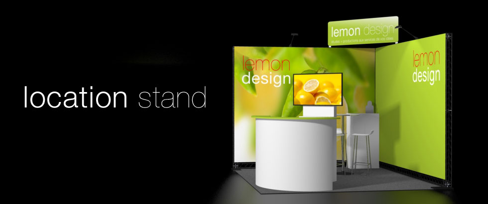 Lemon design location de standslocation de stands lemon design for Location stand exposition